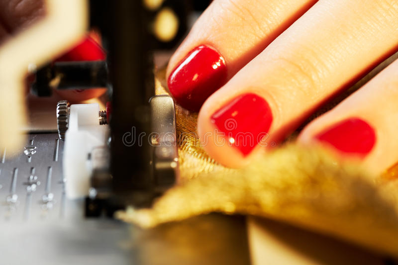 Working On The Sewing Machine Stock Image