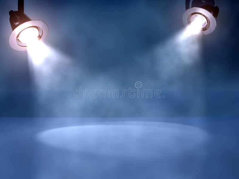 Working spotlights royalty free illustration