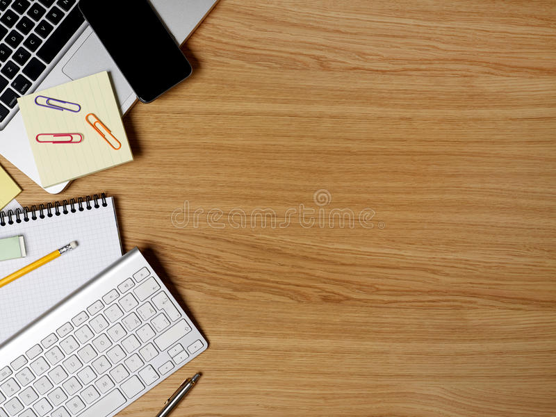 Working table royalty free stock photo