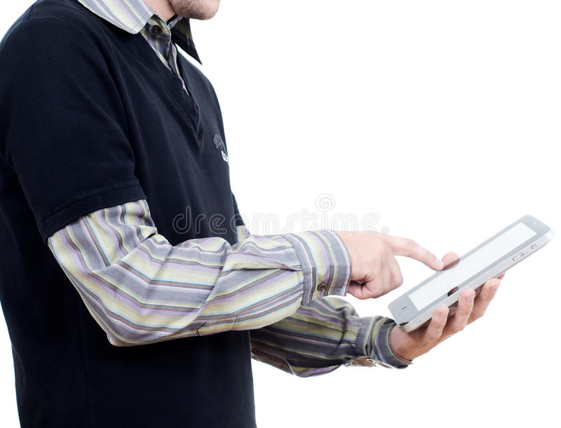 Download Working with tablet pc stock photo. Image of laptop, reading - 21025234