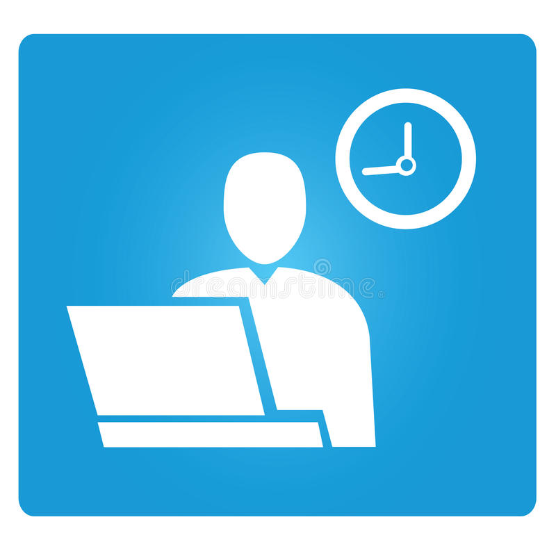 Working time royalty free illustration