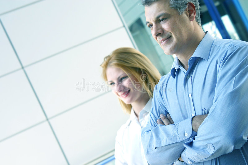 Working together. stock image
