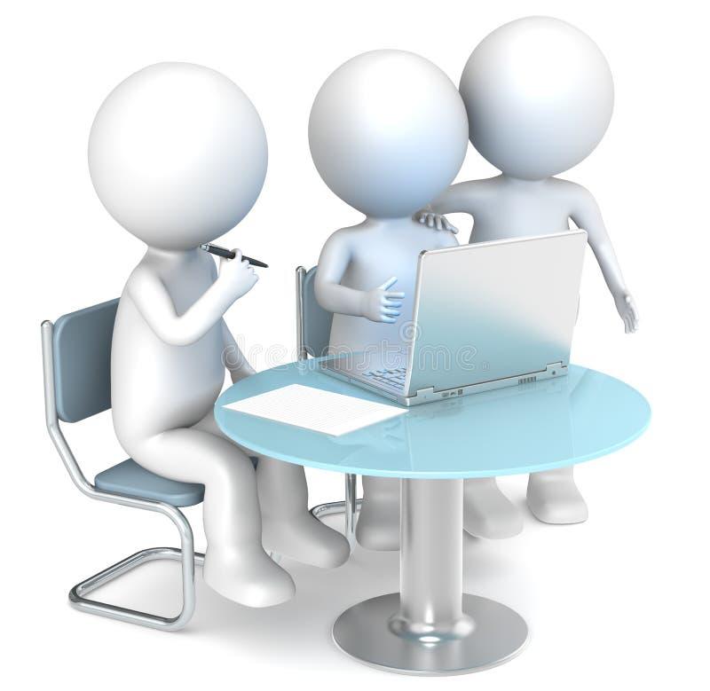 Working together. stock illustration