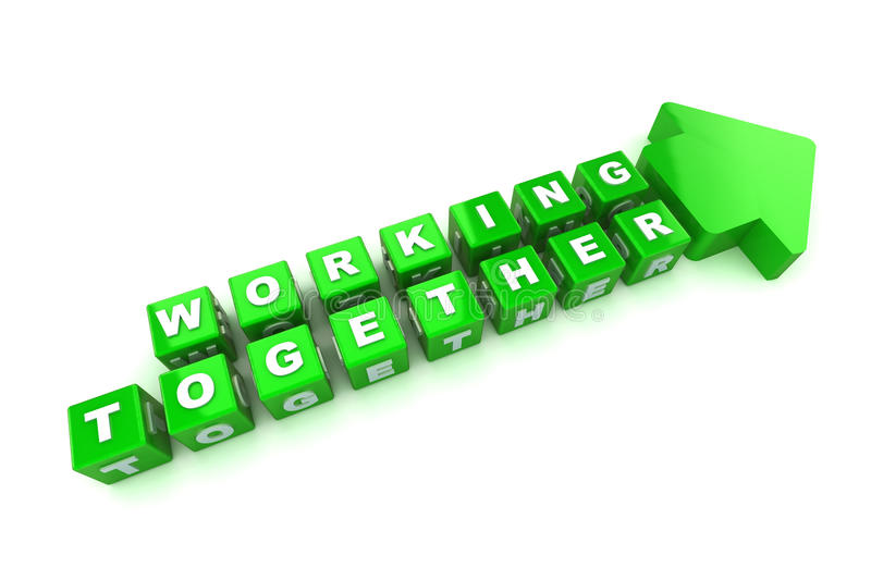 Working Together Royalty Free Stock Images