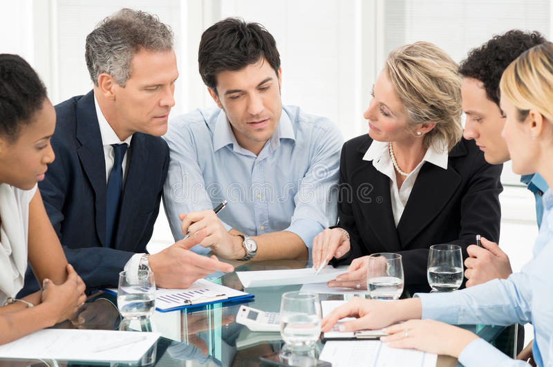 Working Together At Office stock image