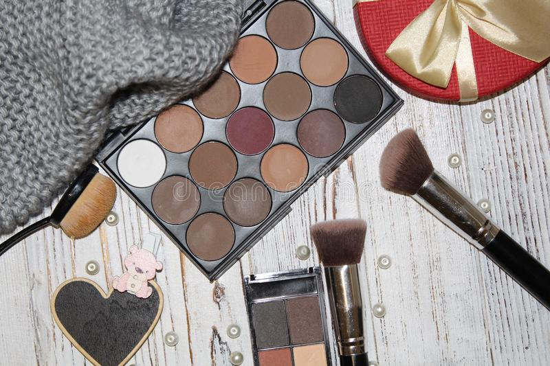 Working tools for the make-up artist royalty free stock photos