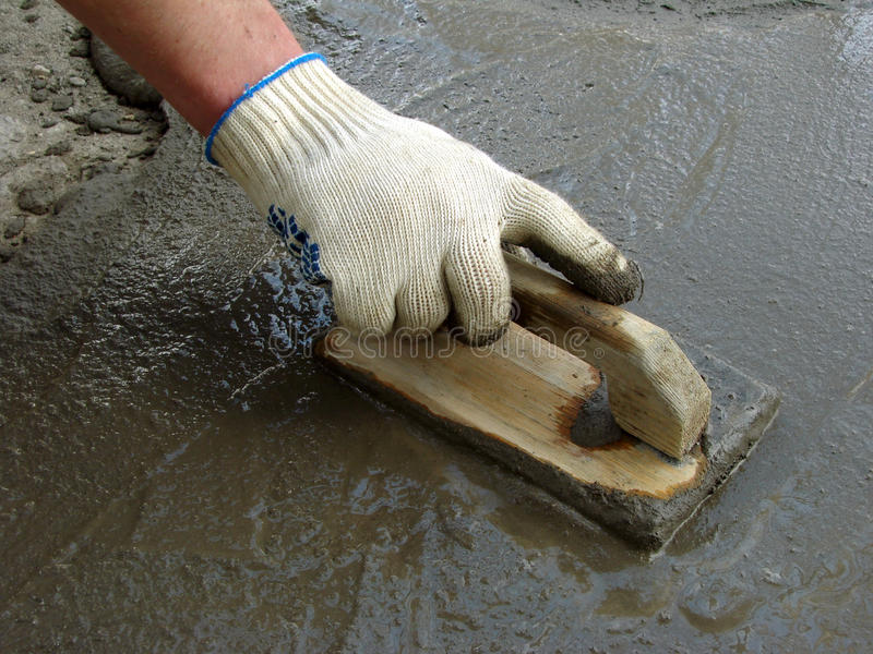 Download Working with trowel stock image. Image of spreading, trowel - 13937913