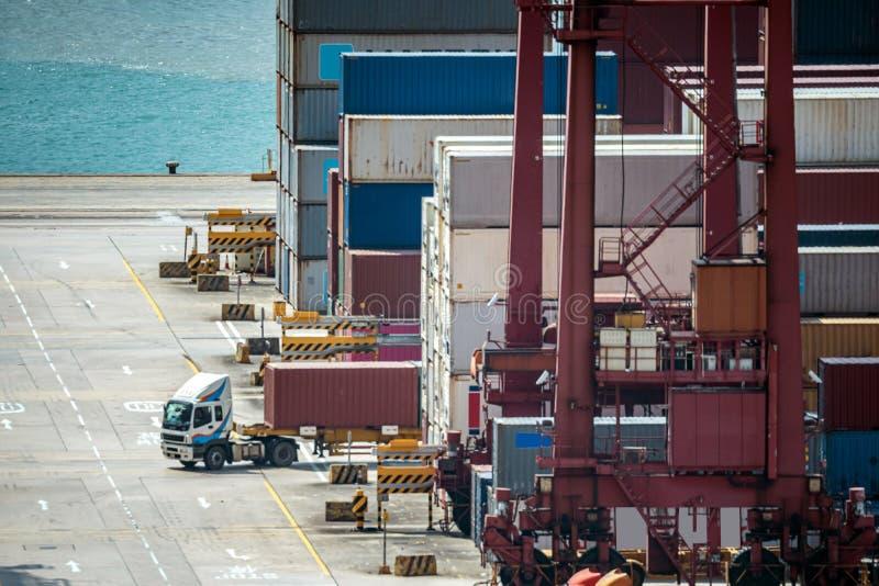 Hong Kong Port Working stock photos