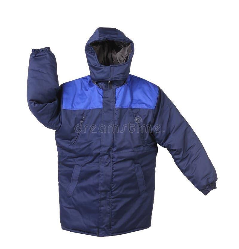 Working winter coat with hood. stock image