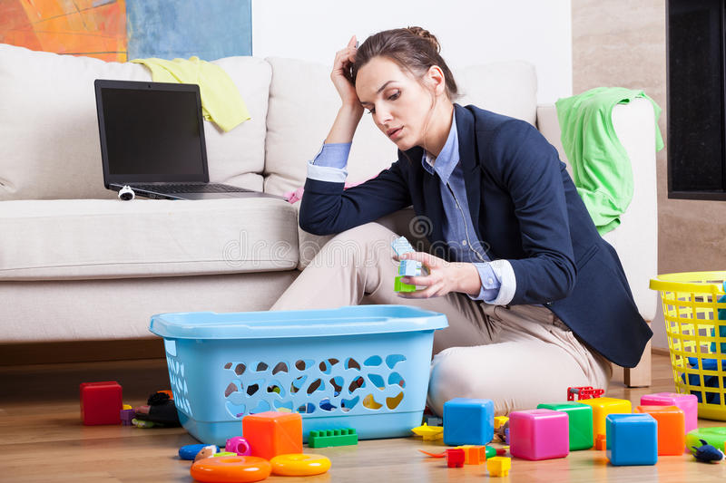 Download Working Woman After Long Day Stock Photo - Image: 43682265