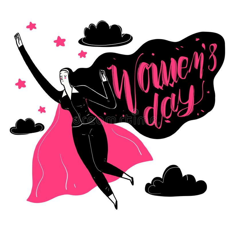 Working women have strong vector illustration