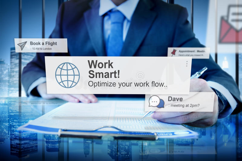 Working Work Smart Growth Development Passion Concept stock photography