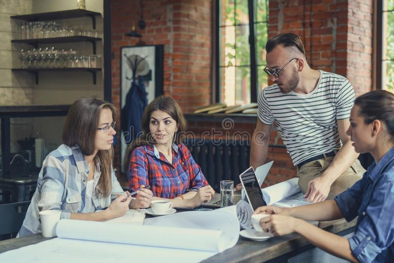 Working young people royalty free stock images