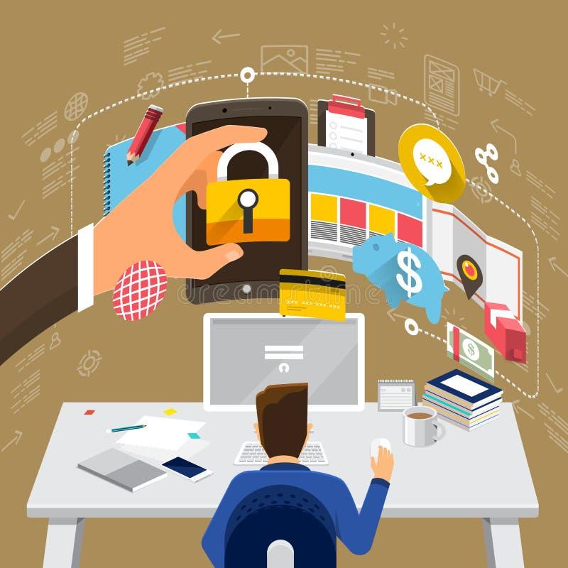 WorkingDesktop_19 απεικόνιση αποθεμάτων