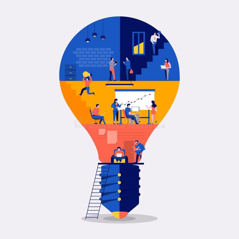 Workingspace leidt tot idee vector illustratie