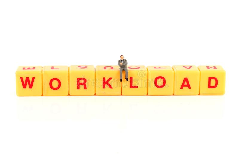 Workload. Concept shot of workload on white background royalty free stock photos