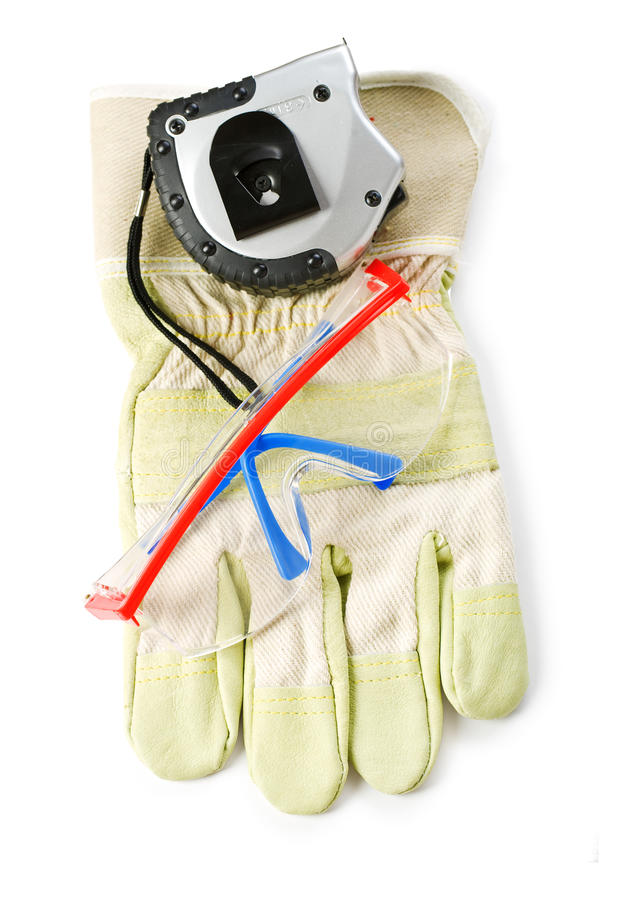 Workman Clothing And Tools Royalty Free Stock Images