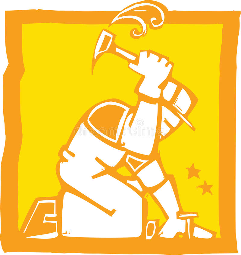 Workman with Hammer