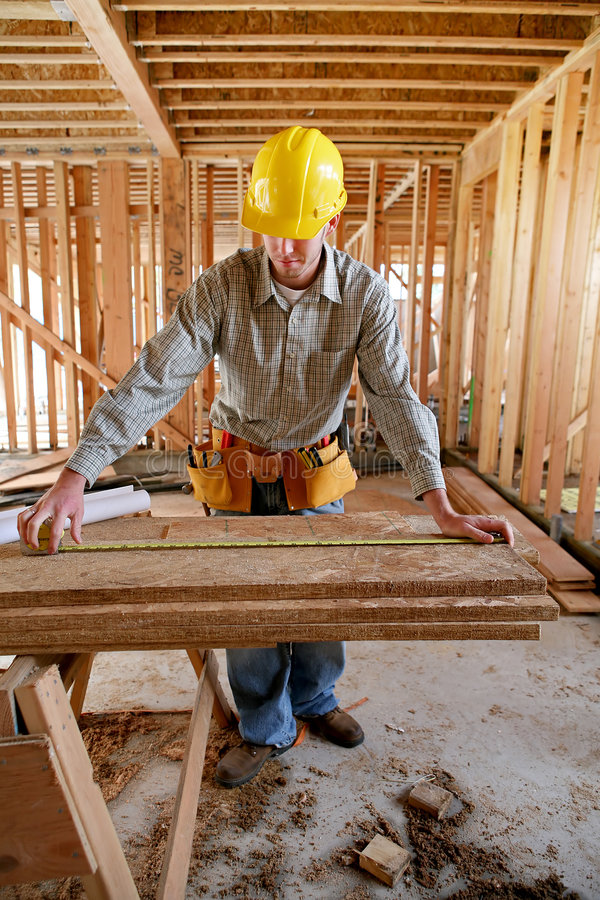 Free Workman Measuring Stock Photo - 2107360