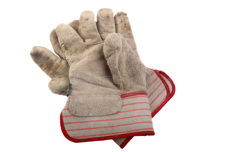 Workman's gloves stock image