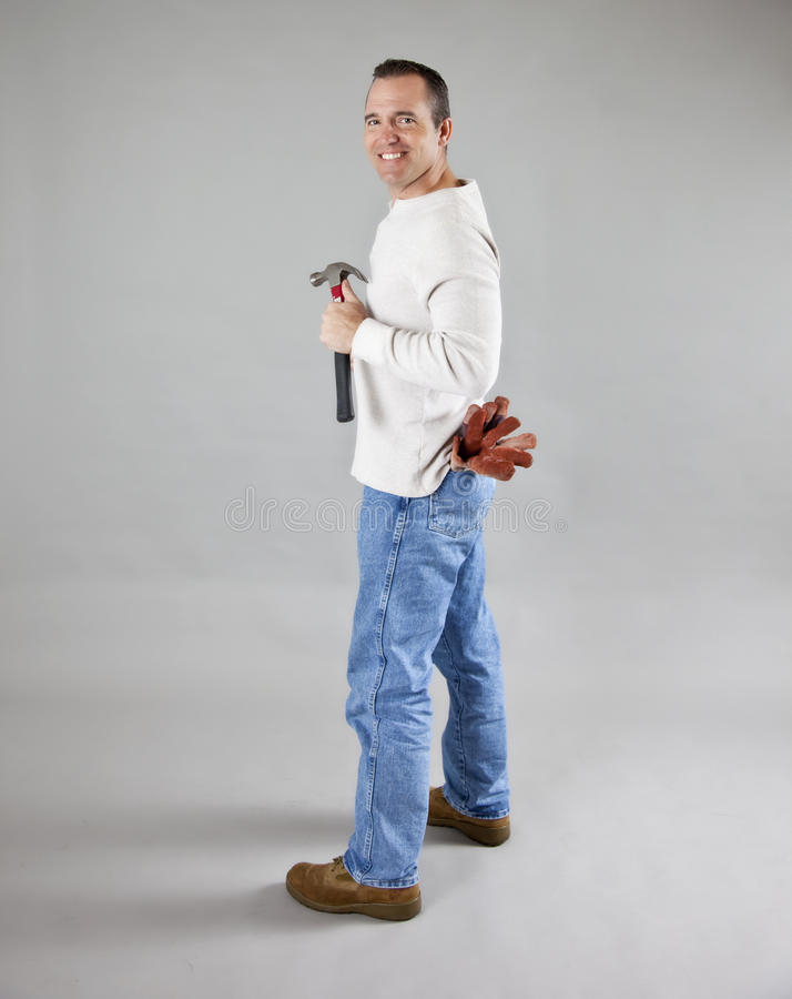 Download Workman with tools stock photo. Image of looking, close - 18468230