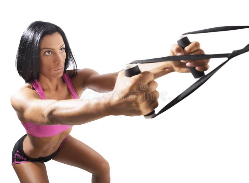 Workout με το trx στοκ φωτογραφία με δικαίωμα ελεύθερης χρήσης