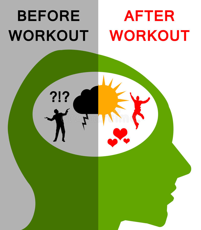 workout ilustração stock