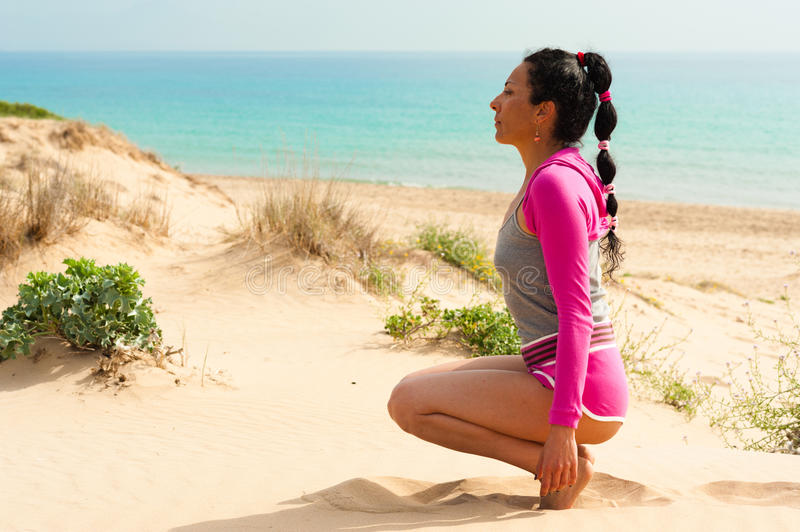Download Workout On The Beach Royalty Free Stock Photos - Image: 24859078