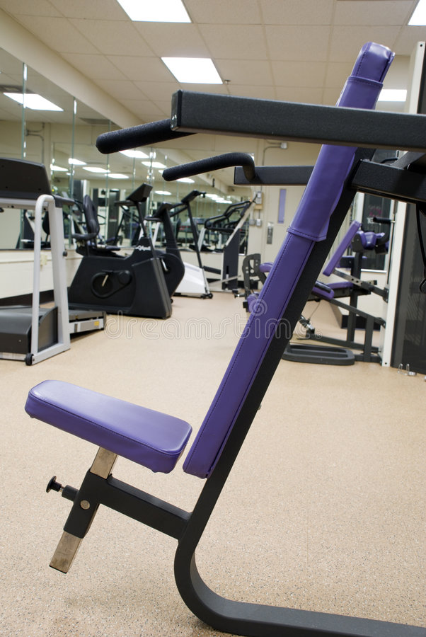 Download Workout Bench2 stock image. Image of sweat, blue, physical - 1721997
