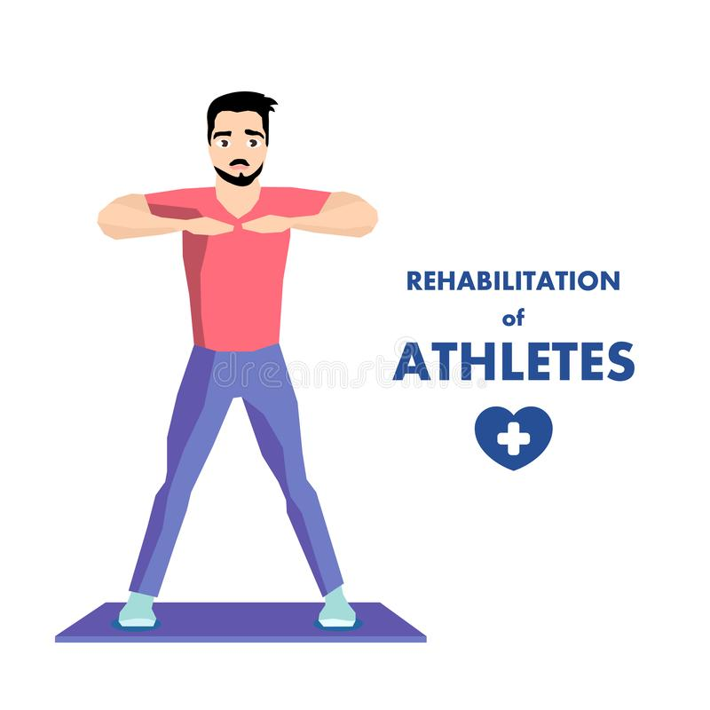 Workout Especial para o Advert de Reabilitação de Atleta ilustração stock
