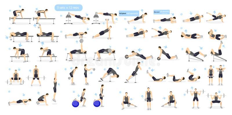 Workout girl set. stock illustration