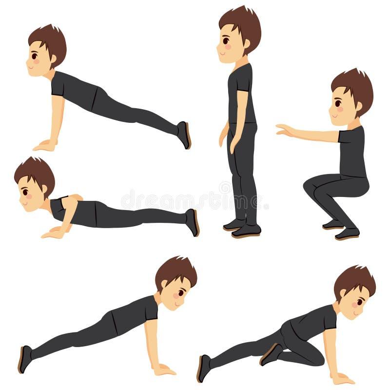 Workout Man Exercising vector illustration