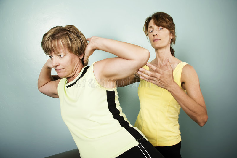 Workout with a Personal Trainer royalty free stock image
