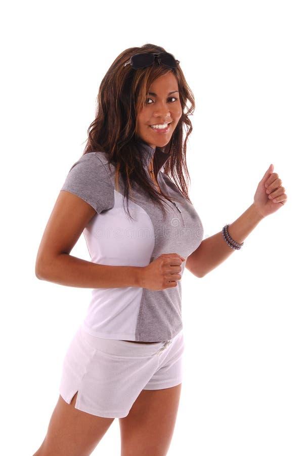 Download Workout Runner stock photo. Image of brunet, hair, flex - 205866