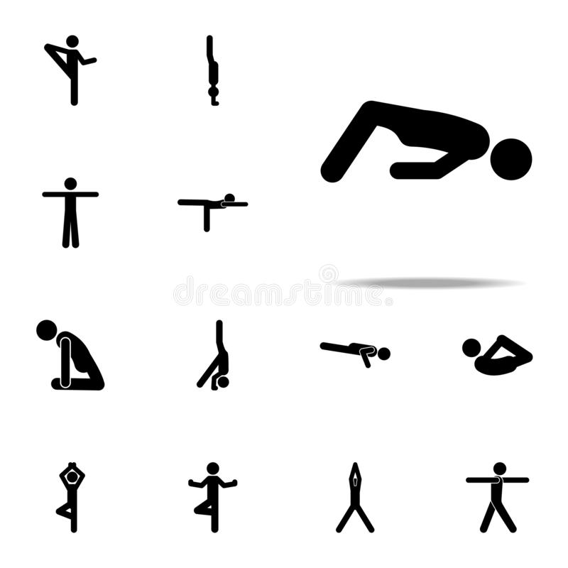 workout, yoga icon. yoga icons universal set for web and mobile stock illustration