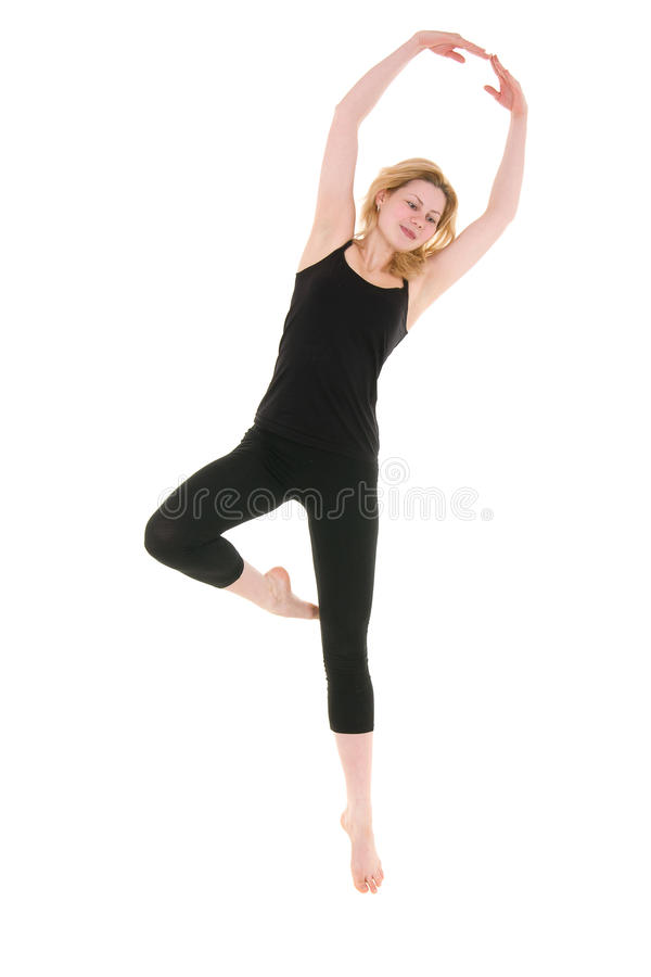Download Workout Of Young Acrobat Woman Stock Photo - Image: 25381212
