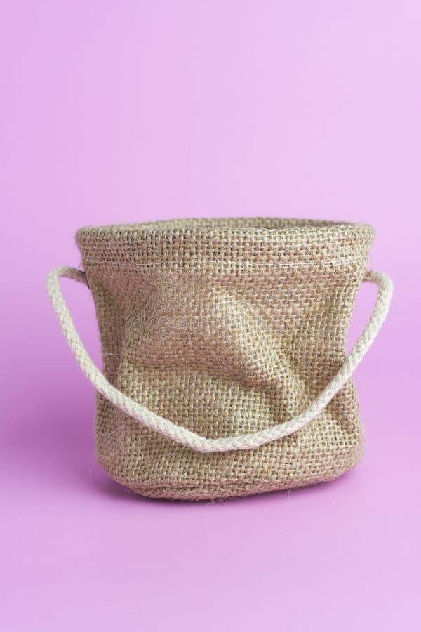 Workowa torba na różowym tle fotografia royalty free