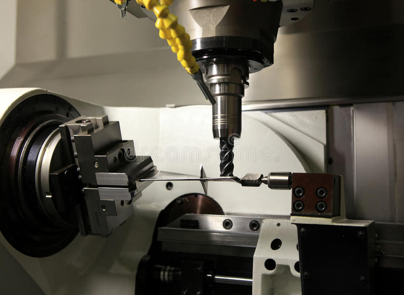 Workpiece da máquina de perfuração imagens de stock