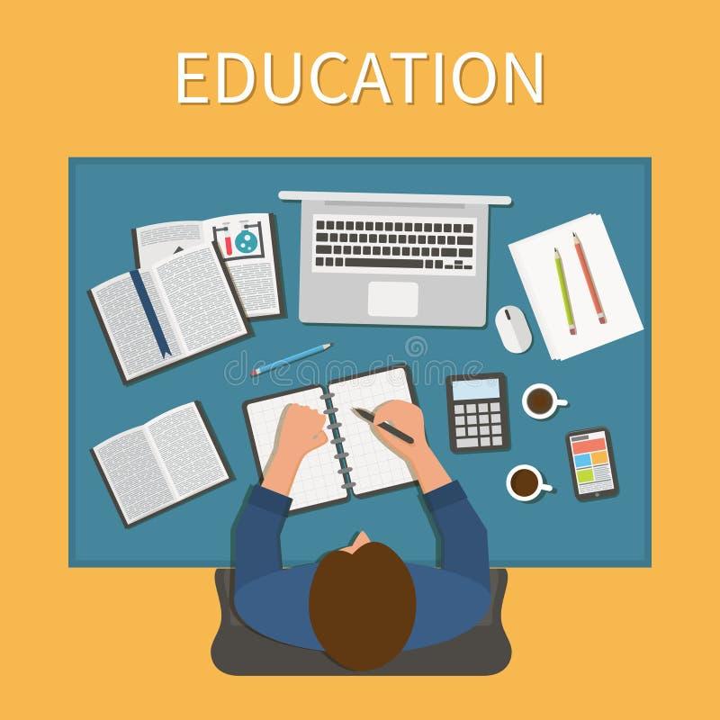 workplace Ατελείωτη εκπαίδευση Κατάρτιση και on-line ελεύθερη απεικόνιση δικαιώματος
