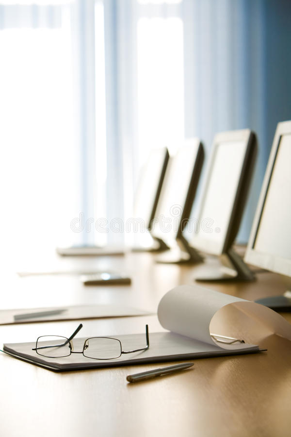 Download Workplace stock image. Image of conference, blank, eyeglasses - 10919279