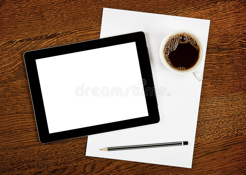 Download Workplace stock photo. Image of coffee, media, laptop - 25150978