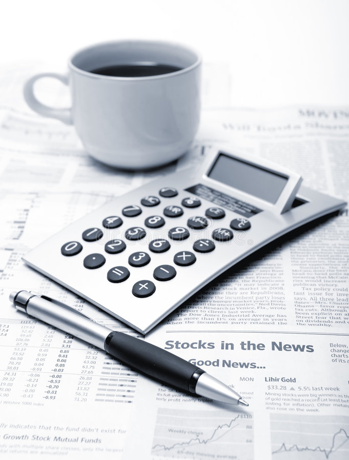 Workplace of the businessman stock image