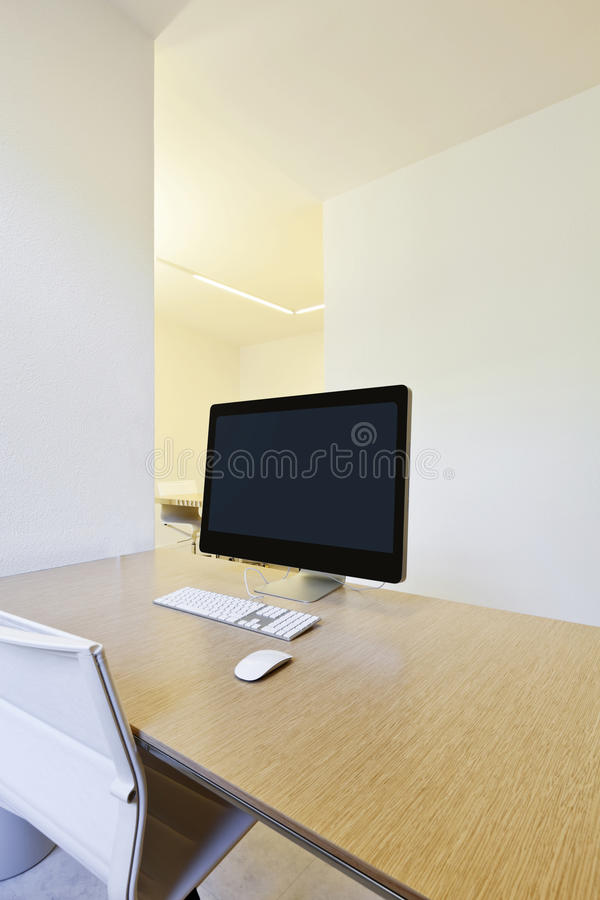 Download Workplace with computers stock image. Image of desk, computer - 25371175