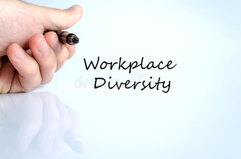 Workplace diversity text concept stock image