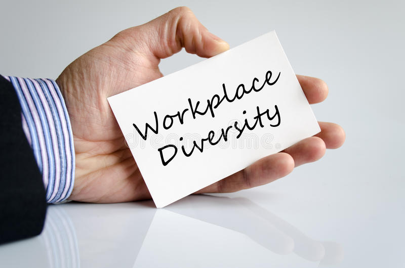 Workplace diversity text concept. Isolated over white background royalty free stock images