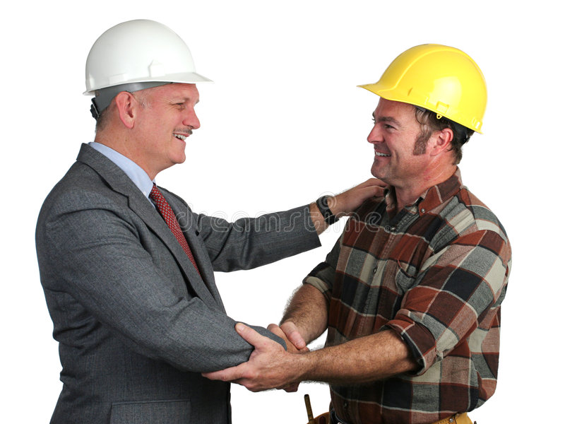 Workplace Greeting stock image