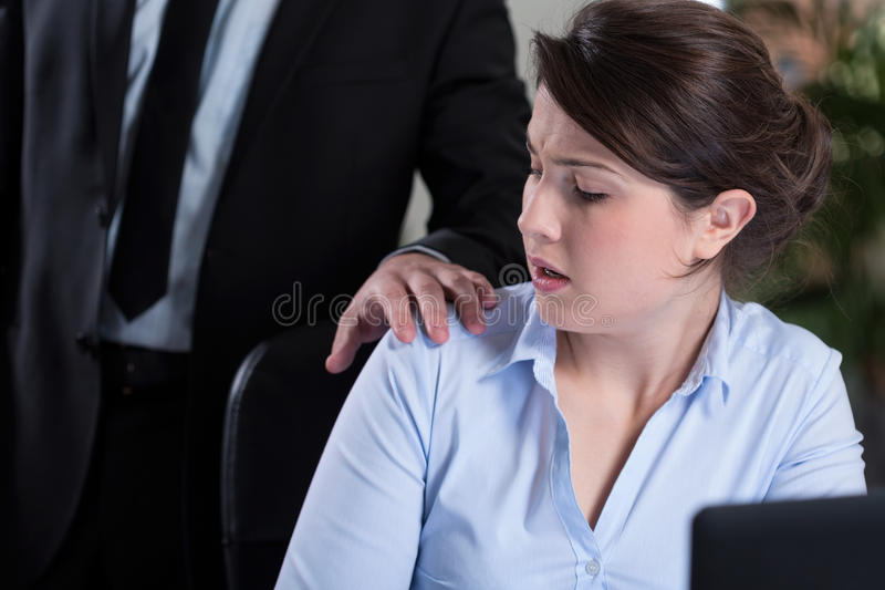 Workplace harassment royalty free stock image