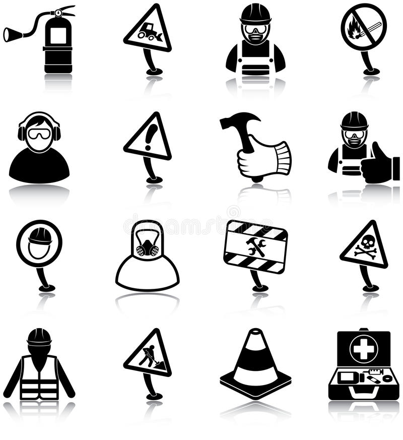 Free Workplace Health And Safety Icons Royalty Free Stock Image - 45200126
