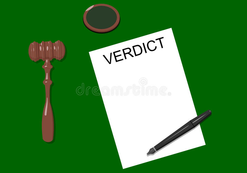 Workplace judge stock photo