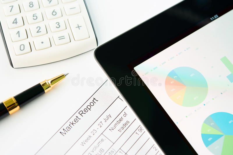 Workplace Of Modern Businessman Stock Image